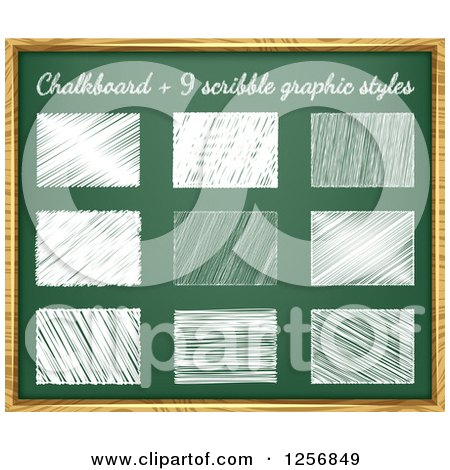 Clipart of Scirbbles on a Chalkboard - Royalty Free Vector Illustration by vectorace