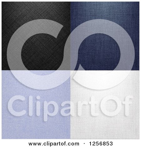 Clipart of Denim Jean Textures - Royalty Free Vector Illustration by vectorace