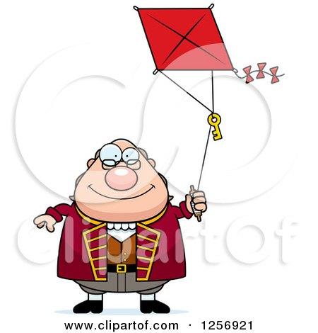 Chubby Benjamin Franklin Flying a Kite Posters, Art Prints