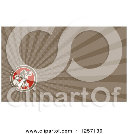 Clipart of a Cameraman Business Card Design - Royalty Free Illustration by patrimonio