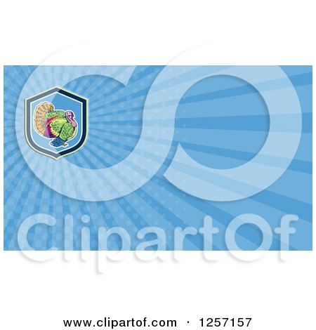 Clipart of a Turkey Bird Business Card Design - Royalty Free Illustration by patrimonio