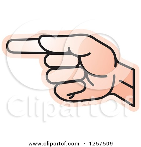 Clipart of a Sign Language Hand Gesturing Letter G - Royalty Free Vector Illustration by Lal Perera
