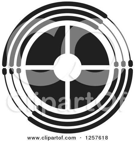 Clipart of a Black and White Target - Royalty Free Vector ...