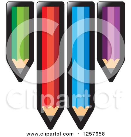 Clipart of Colorful Pencils - Royalty Free Vector Illustration by Lal Perera
