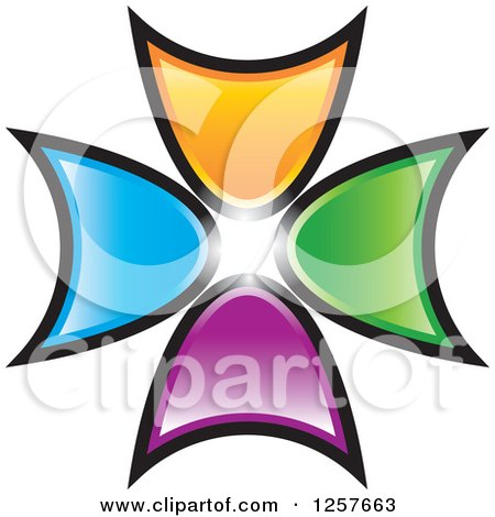 Clipart of Colorful Arrow Logo - Royalty Free Vector Illustration by Lal Perera