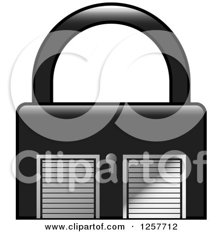 Clipart of a Padlock Storage Unit Icon - Royalty Free Vector Illustration by Lal Perera