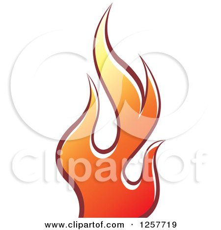 Clipart of a Red and Yellow Fire - Royalty Free Vector Illustration by Lal Perera