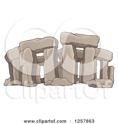 Clipart of Ruins of Stonehenge - Royalty Free Vector Illustration by visekart