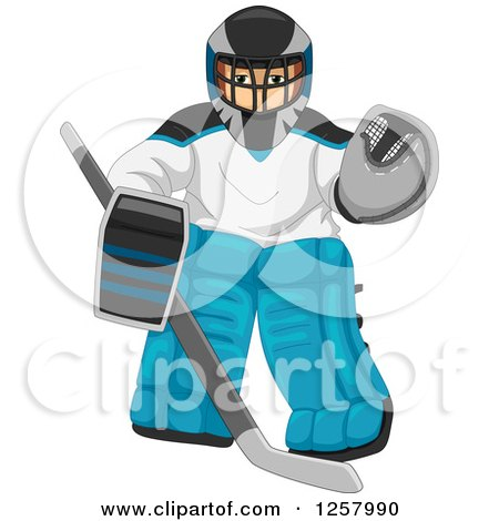 Royalty-Free (RF) Ice Hockey Goalie Clipart, Illustrations, Vector ...