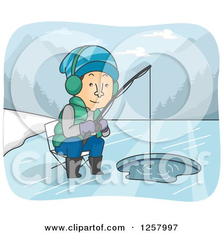 royaltyfree rf ice fishing clipart illustrations