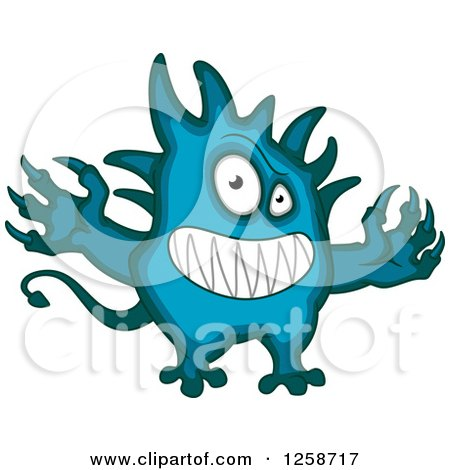 Clipart of a Grinning Monster - Royalty Free Vector Illustration by Vector Tradition SM