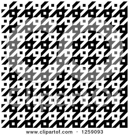 Clipart of a Seamless Black and White Houndstooth Pattern - Royalty Free Vector Illustration by Arena Creative