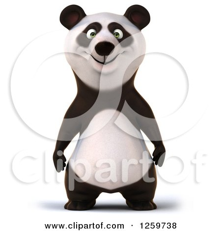 Clipart of a 3d Panda - Royalty Free Illustration by Julos