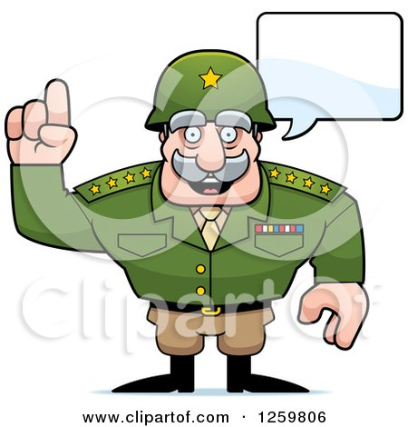 Cartoon Clipart Of A Black And White Screaming Tough Drill