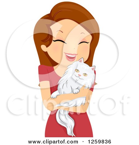 Clipart Of An Old Lady With A Cat In A Baby Carriage