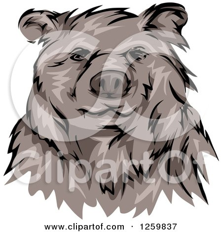 Clipart of a Grizzly Bear Mascot - Royalty Free Vector Illustration by BNP Design Studio