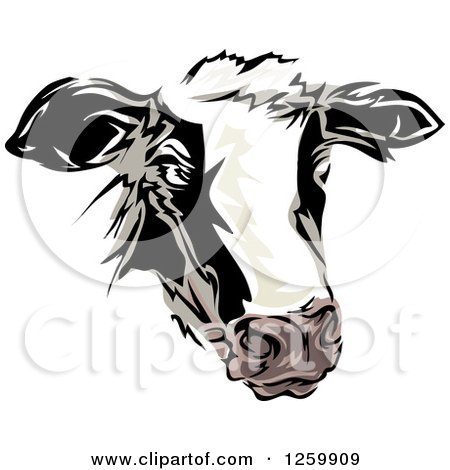 Clipart of a Dairy Cow Mascot - Royalty Free Vector Illustration by BNP Design Studio