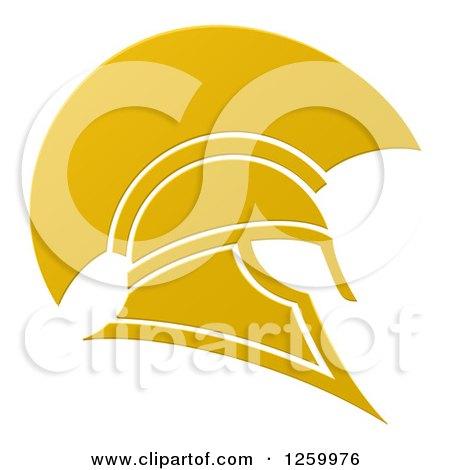 Golden Spartan Trojan Helmet Posters, Art Prints