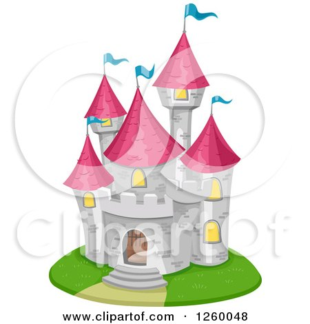 Clipart of a Fairy Tale Castle - Royalty Free Vector Illustration by BNP Design Studio
