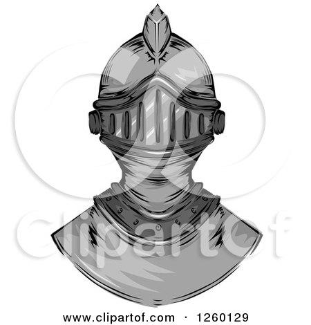 Clipart of a Knight Helmet - Royalty Free Vector Illustration by BNP Design Studio