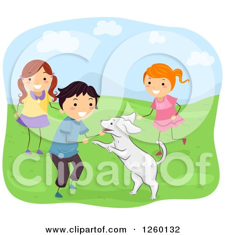 Girl Playing Clipart Clipart of a Boy And Girls