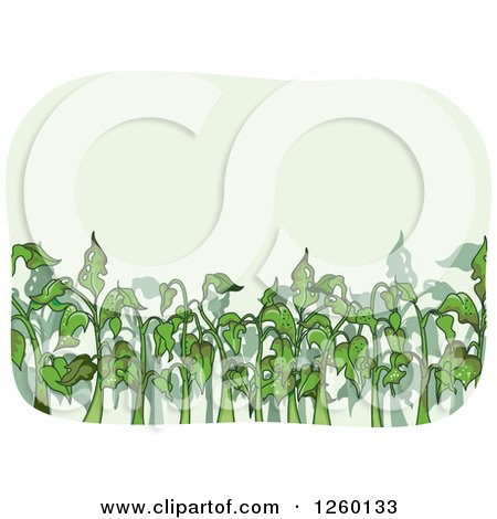 Clipart of Bug Infested Plants - Royalty Free Vector Illustration by BNP Design Studio
