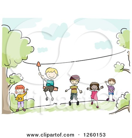 Royalty Free Rf Zipline Clipart Illustrations Vector