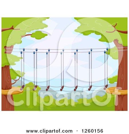 Foot Bridge Connecting Trees Posters, Art Prints