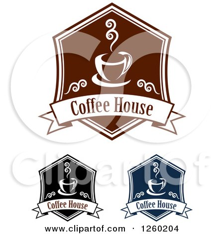 Clipart of Coffee House Designs - Royalty Free Vector Illustration by Vector Tradition SM