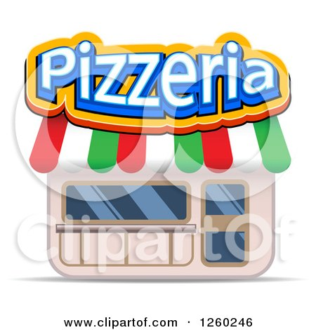 Clipart of a Pizzeria Storefront - Royalty Free Vector Illustration by Vector Tradition SM