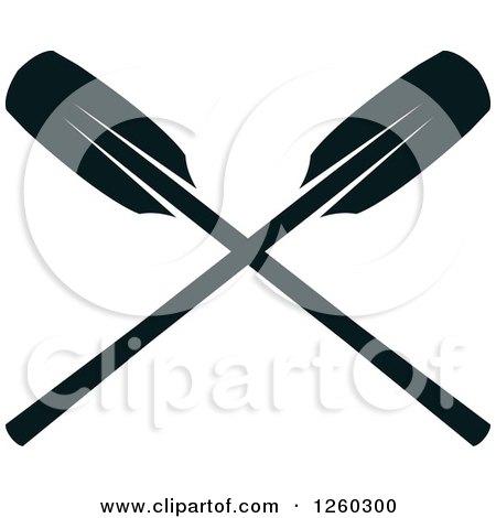 Crossed Oars Logo And White Crossed Oars