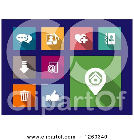 Clipart of Square Colorful Internet Browser Icons - Royalty Free Vector Illustration by Vector Tradition SM