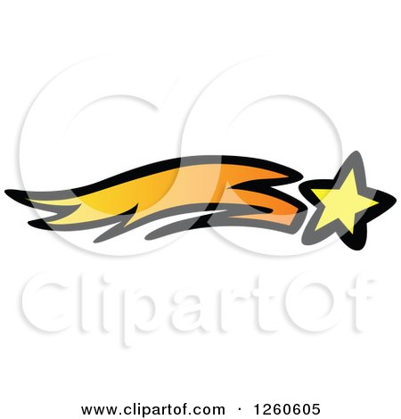 Clipart of a Shooting Star - Royalty Free Vector Illustration by Chromaco