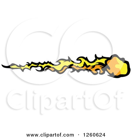 Clipart Shooting Star Comet In A Night Sky - Royalty Free Vector ...