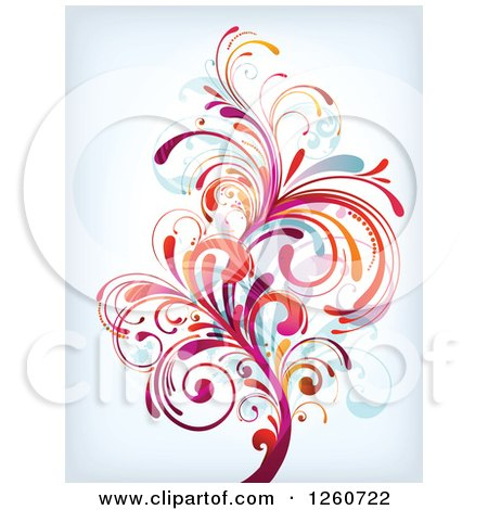 Clipart of a Colorful Splash - Royalty Free Vector Illustration by OnFocusMedia