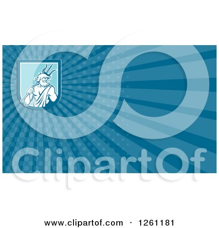 Clipart of a Neptune Background or Business Card Design - Royalty Free Illustration by patrimonio