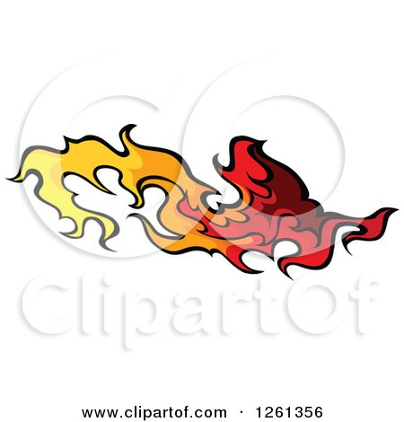 Clipart of a Fire Design Element - Royalty Free Vector Illustration by Chromaco
