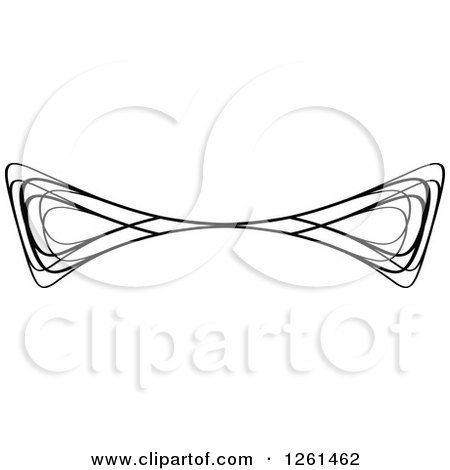 Clipart of a Black and White Swirl Rule Border Design Element - Royalty Free Vector Illustration by Chromaco