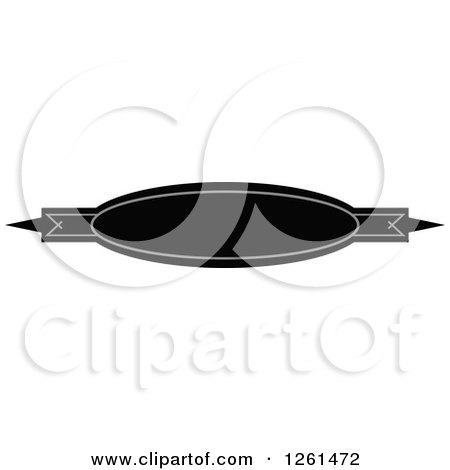 Clipart of a Grayscale Oval Rule Border Design Element - Royalty Free Vector Illustration by Chromaco