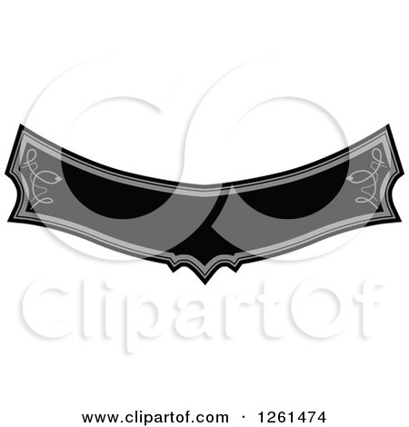 Clipart of a Grayscale Rule Border Design Element - Royalty Free Vector Illustration by Chromaco