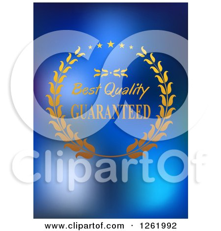 Clipart of a Best Quality Guaranteed Design on Blue - Royalty Free Vector Illustration by Vector Tradition SM