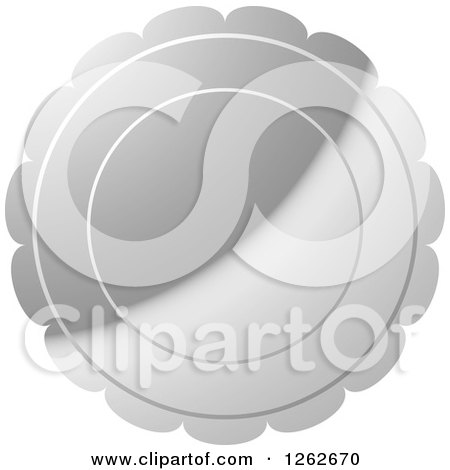 Clipart of a Floral like Silver Tag Label - Royalty Free Vector Illustration by Lal Perera