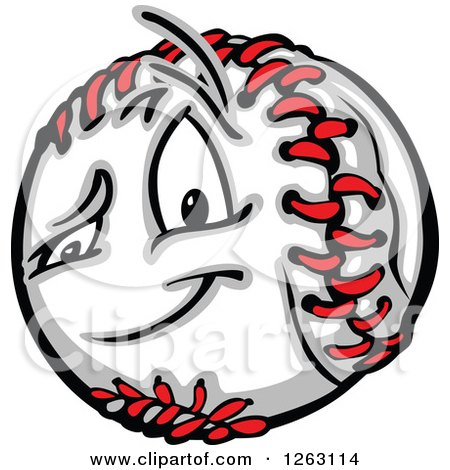 Clipart of a Baseball Mascot - Royalty Free Vector Illustration by Chromaco