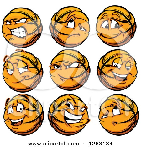 Clipart of Basketball Mascot - Royalty Free Vector Illustration by Chromaco