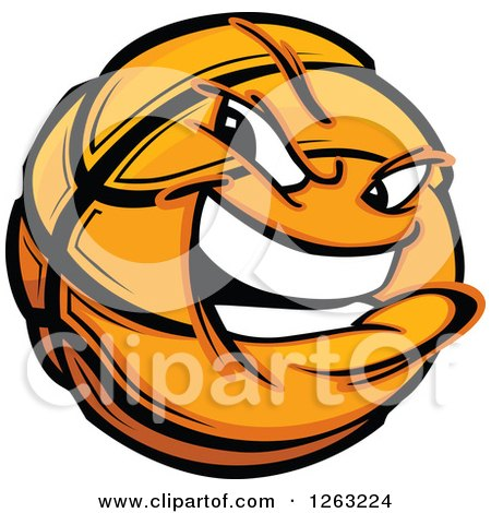 Clipart of a Tough Basketball Mascot - Royalty Free Vector Illustration by Chromaco