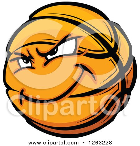 Clipart of a Basketball Mascot - Royalty Free Vector Illustration by Chromaco