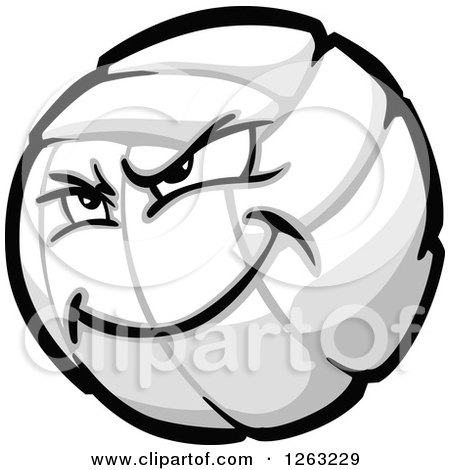 Clipart of a Tough Volleyball Mascot - Royalty Free Vector Illustration by Chromaco