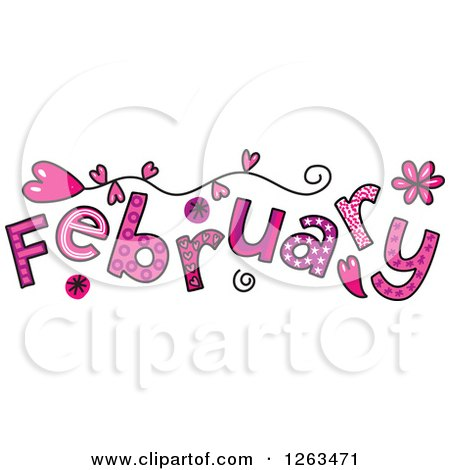 1263471-Clipart-Of-Colorful-Sketched-Month-Of-February-Valentines-Day-Love-Themed-Text-Royalty-Free-Vector-Illustration.jpg