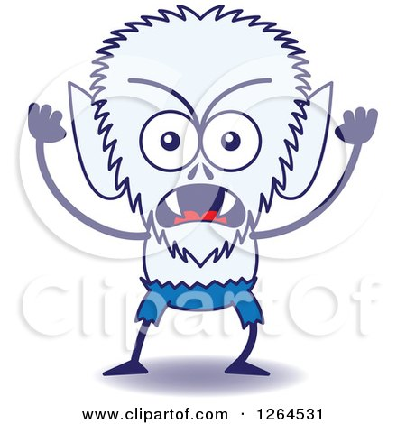Clipart of a Furious Halloween Werewolf - Royalty Free Vector Illustration by Zooco