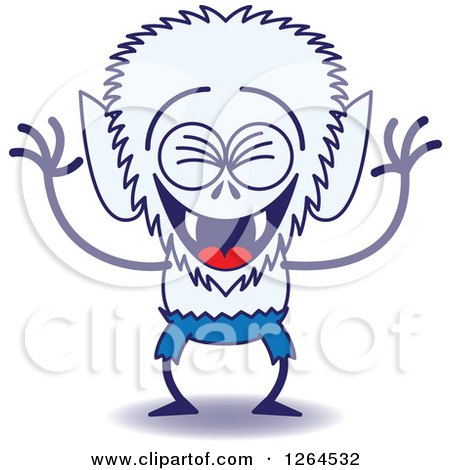 Clipart of a Halloween Werewolf Laughing - Royalty Free Vector Illustration by Zooco
